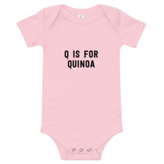 'Q is for Quinoa' Onesie